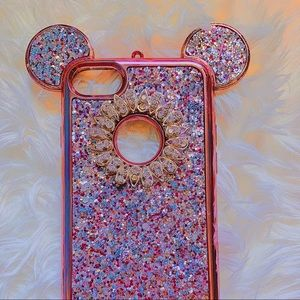 Disney Minnie Mouse Ears Bling Pink iPhone 7 Case